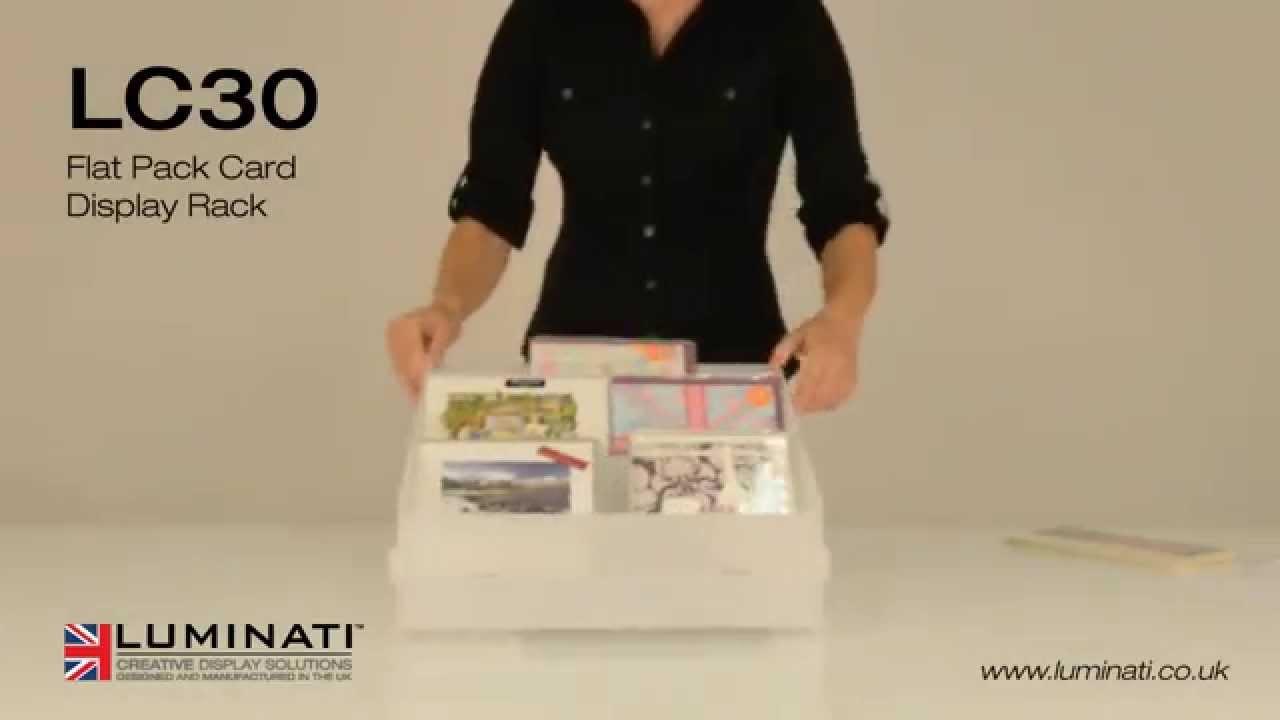Flat Pack Card Display Rack Luminati Ltd Youtube