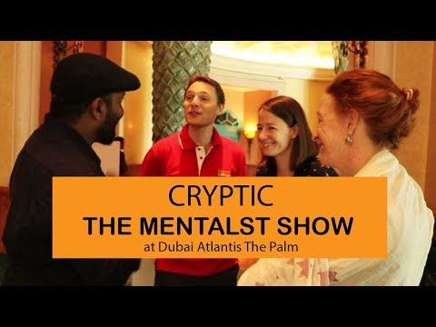 Cryptic-The Mentalist Show at Dubai Atlantis The Palm at the premium dealers meet