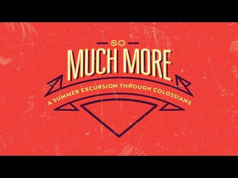 July 31, 2016 - So Much More - Dr. David Uth