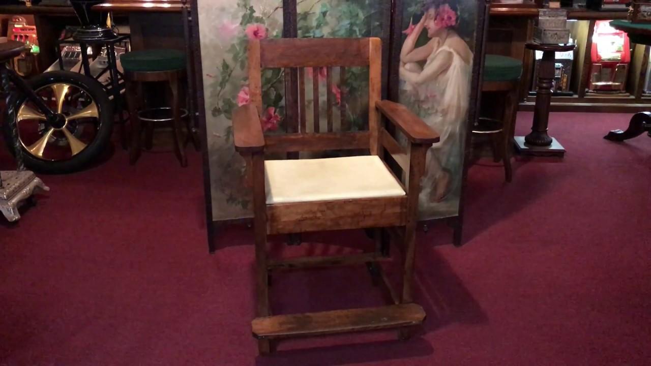 Vintage Billiards Pool Hall Spectator Chair