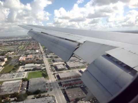 American Airlines Flight 1609: JFK - MIA (Boeing 767) Landing!!! 8/6/10