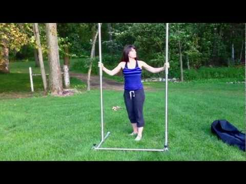 Portable pull up bar assembly youtube