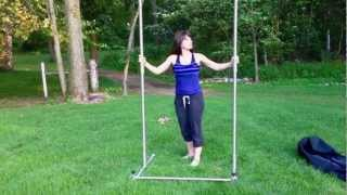 Portable Pull Up Bar Assembly
