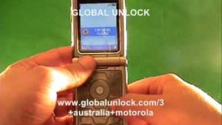 How To Unlock your 3 Australia Motorola