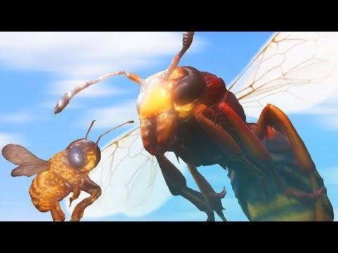 ПЧЕЛА ПРОТИВ ШЕРШНЯ! СИМУЛЯТОР ПЧЕЛЫ | Bee Simulator