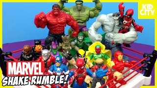 Marvel Superhero Toys Shake Rumble with Spiderman Toys Hulk Deadpool & Avengers | KIDCITY