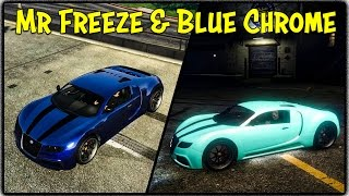 GTA 5 Online - MR. FREEZE, RED VENOM & BLUE CHROME MODDED PAINT JOBS! (Touch Up Tuesday) [GTA V]