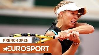 Caroline Wozniacki vs Veronika Kudermetova Highlights   Roland Garros 2019 Round 1   Eurosport