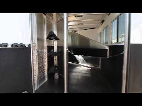 '17 Exiss 7308 Living Quarters Horse Trailer #68165
