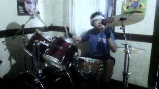 slayer world painted blood big four sofa version drum cover by a 14 year old drummer boy hd