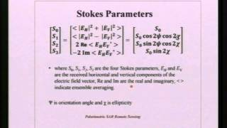 IIRS EDUSAT Lecture 25 feb 2014 Basic of SAR Polarimetry by Shashi Kumar Part1