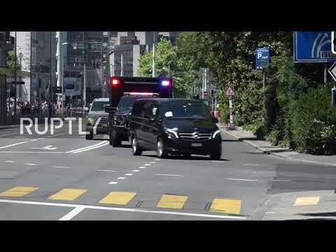 Switzerland: Putin and Biden motorcades drive through Geneva en route to summit