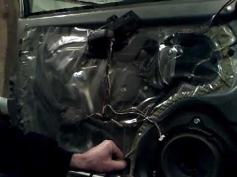 Как снять извлечь заменить стекло передней двери NISSAN MICRA(K12)demontaz Zamiana Szyby Drzwi Przod