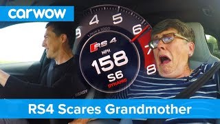 Hilarious - my 70 year old mom reacts to Audi RS4 performance  Mat Vlogs