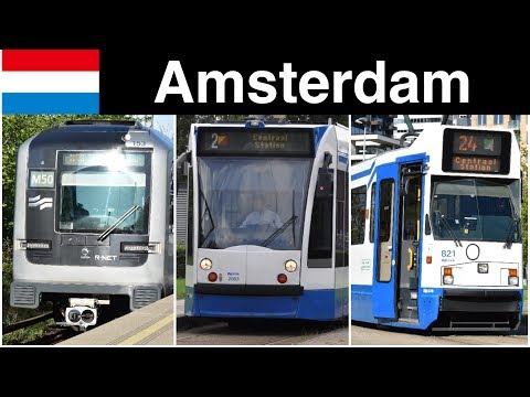 Trains In Amsterdam (Metro, Tram)