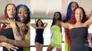 Bhad Bhabie and Asian Doll dancing to Fredo Bang