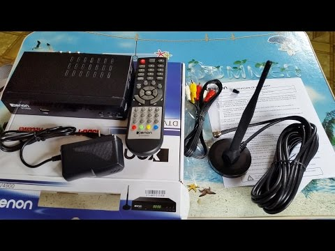 Xenon DTV4900 ISDB-T Digital TV Receiver Unboxing And Testing