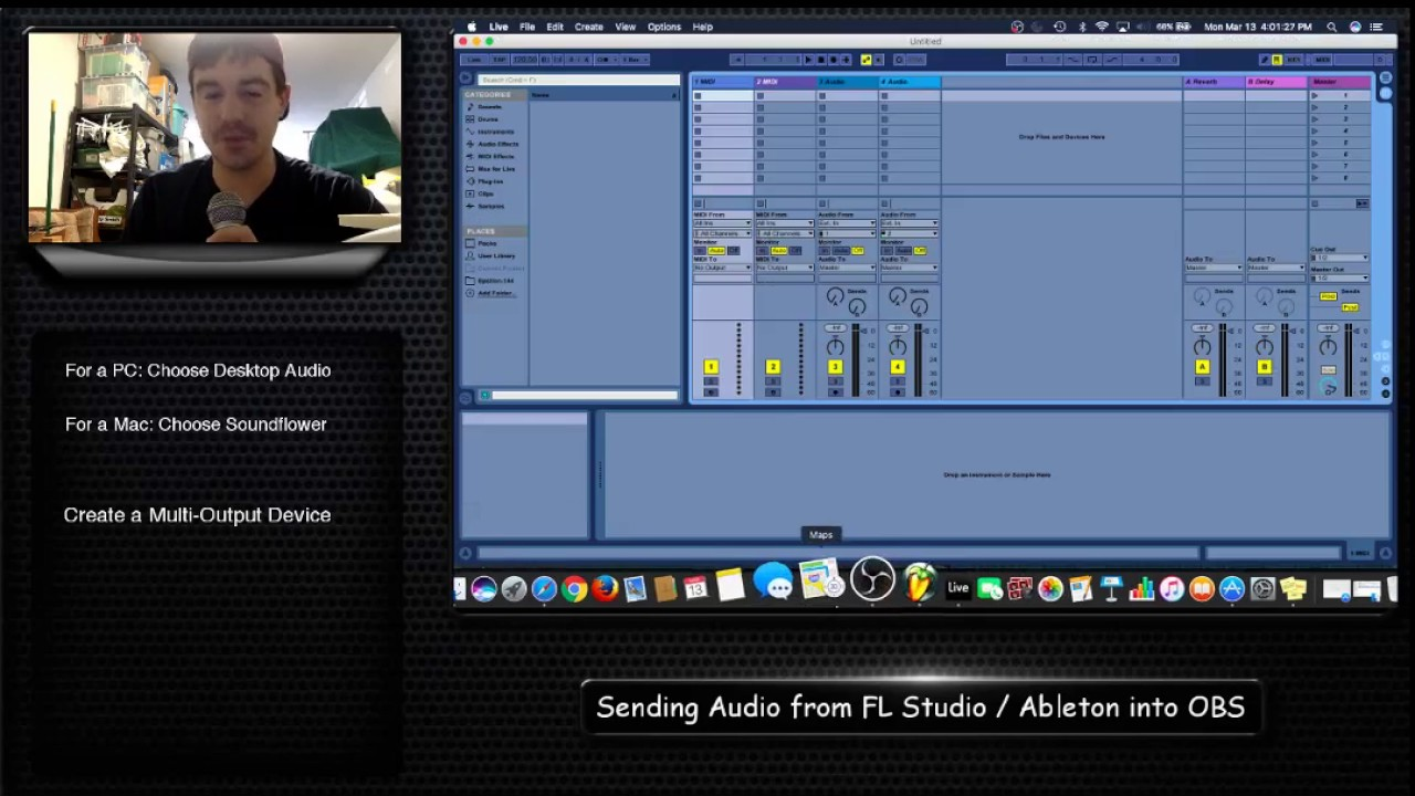 Connecting Audio from a DAW to OBS for Screen Capture and
