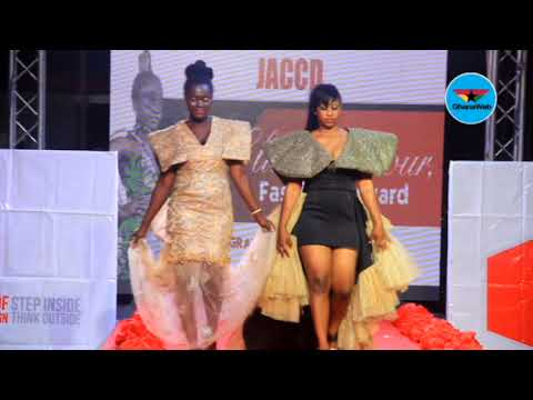 Fashion display at Joyce Ababio College of Creative Designs' graduation ceremony