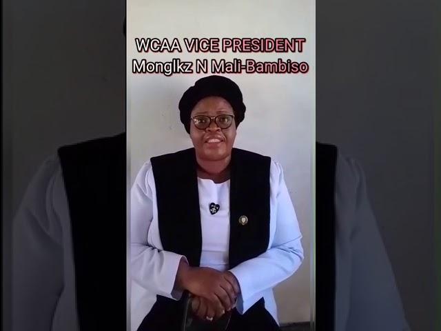 PCA WCAA Vice President - Monglkz N.Mali-Mbambiso
