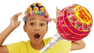 Hairstyle Chupa Chups Lollipops | Kris and Kira Family Show