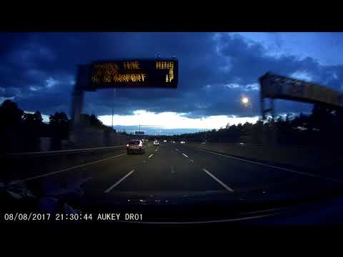 Dash Cam Test Ireland 2017 - Driving in Dublin with all weather conditions - Aukey DashCam