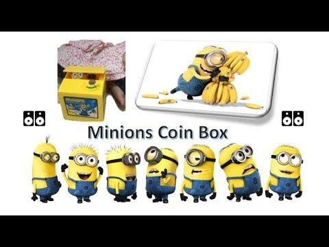 Minions stealing money coin box