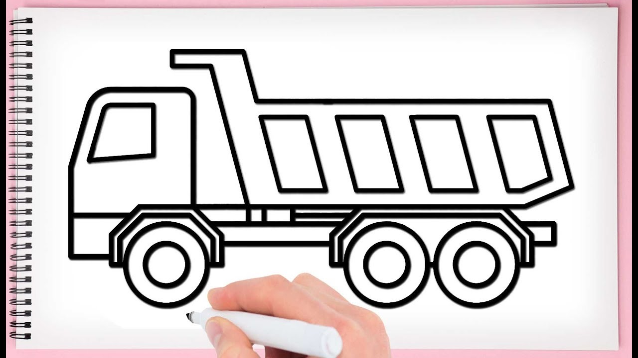 How to Draw a Big Truck Step by Step Learn Drawing Truck ...