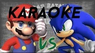 Mario VS Sonic KARAOKE /Epicas Batallas de rap del frikismo