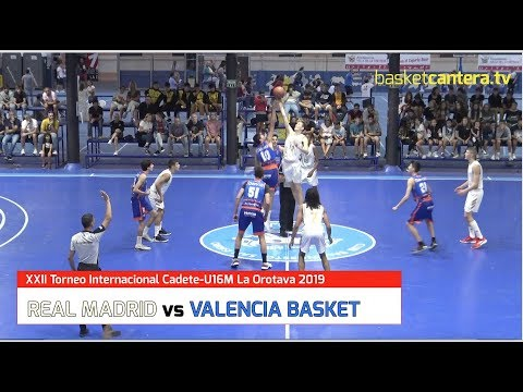 U16M - REAL MADRID Vs VALENCIA BASKET. Torneo Internacional CadeteLa Orotava 2019 (BasketCantera.TV)