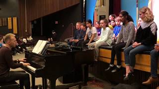 Justin Paul Rehearses With CMS Students