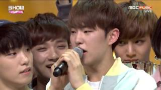 160504 SEVENTEEN 세븐틴 - Pretty U 예쁘다 + 1위 수상 Win & Encore @ 쇼챔피언 Show Champion (SEVENTEEN 1st win)