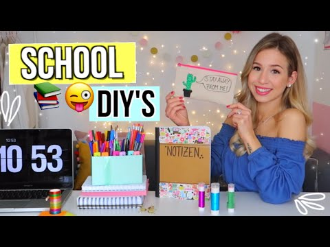 BACK TO SCHOOL DIY SCHOOL SUPPLIES ✏️  Do It Yourself für Back To School  Deutsch