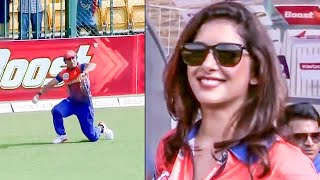 Gorgeous Sameksha Singh Delighted With Excellent Fielding By Punjab De Sher Against Mumbai Heroes