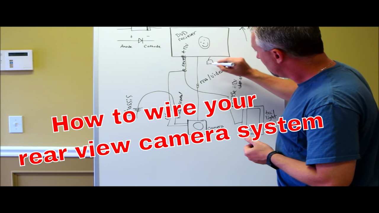 How To Wire Your Reverse Camera With A Switch Youtube Home Run Cable Wiring As Well Diagram For 9 Pin Serial Port