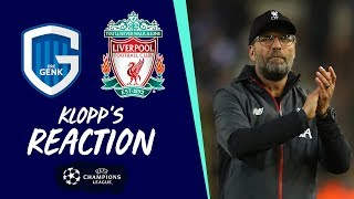 Klopp's reaction: 'All four goals were beautiful' | Genk vs Liverpool