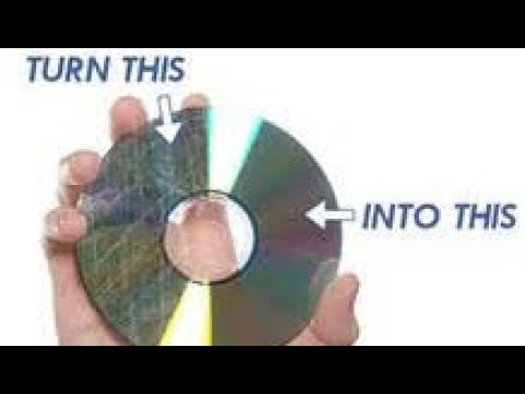 How to fix a scratched disc !