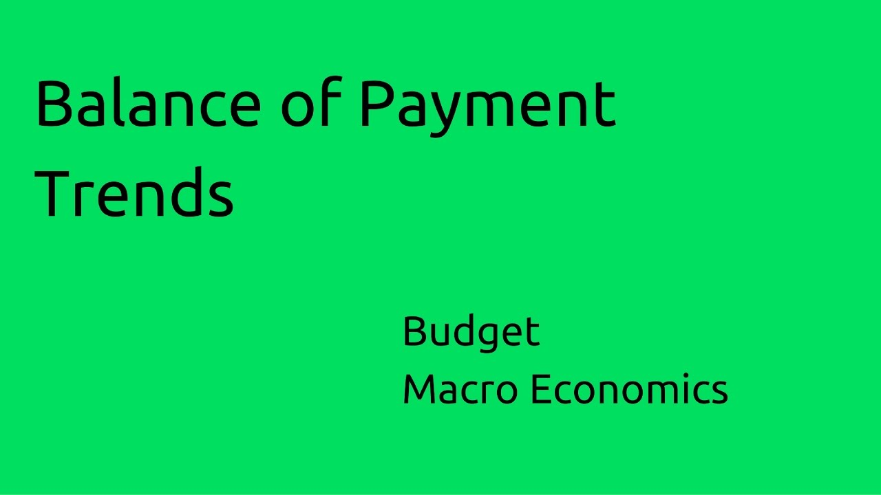 what are the trends and problems of indias balance of payments Abstract balance of payments (bop), being a record of the monetary transactions over a period with the rest of the world, reflects all payments and liabilities to foreigners and all payments and obligations received from foreigners.