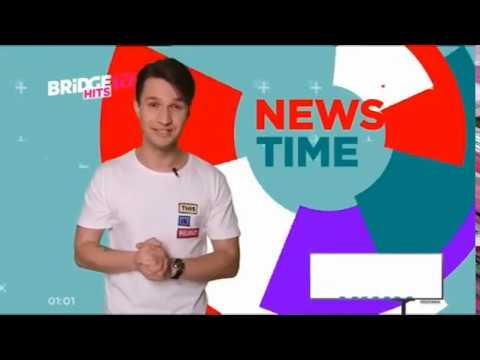 заставка и первый выпуск News time на BRIDGE TV Hits (3.06.2019)
