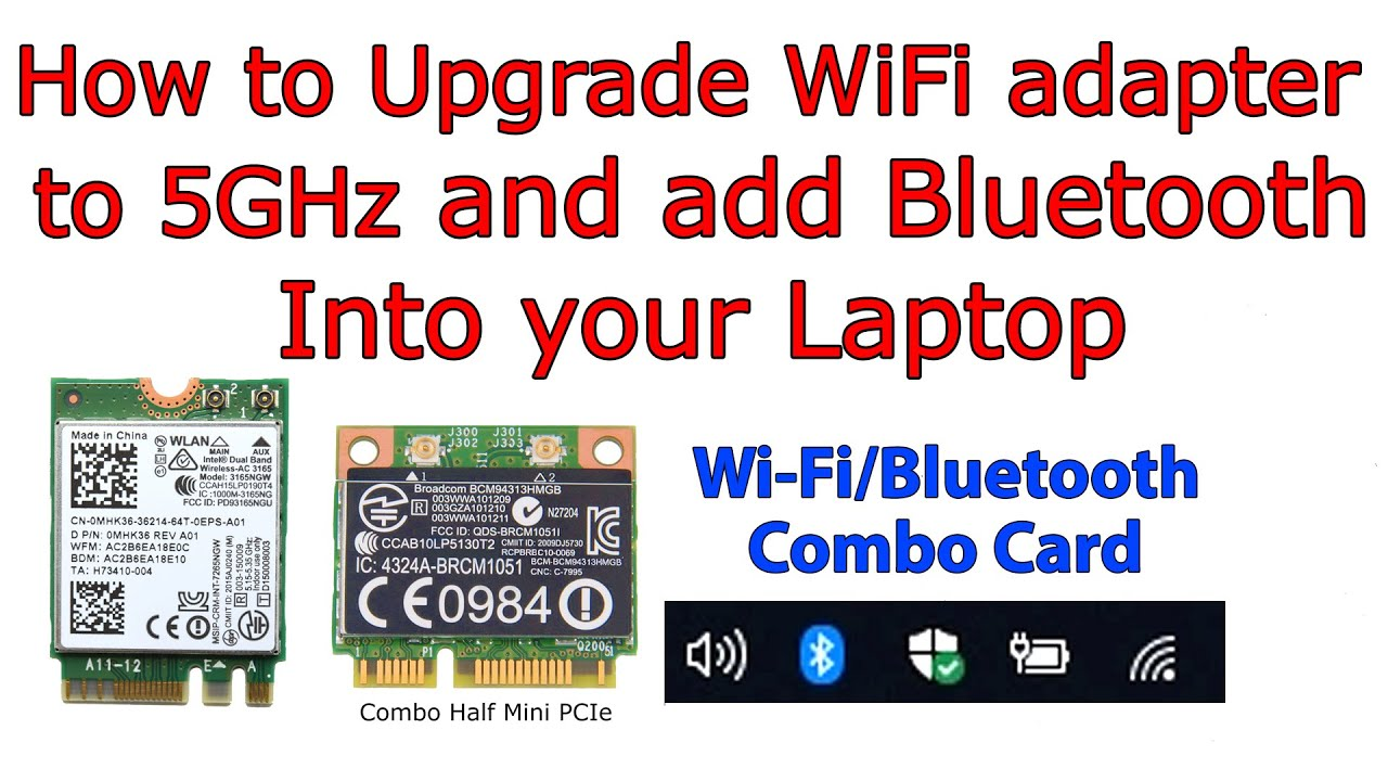 How to Install Bluetooth into your Laptop  Wi-Fi + Bluetooth Combo Adapter
