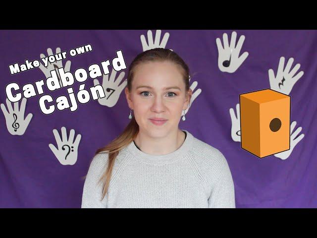 Make a Cardboard Cajón I Music & Visual Art I ArtistYear Create - Kids
