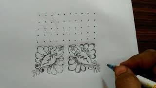 Rangoli designs...beautiful flowers...simple muggulu...10 to 10 dots