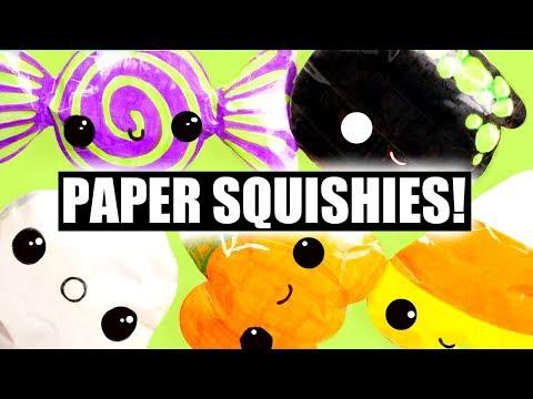 HALLOWEEN PAPER SQUISHIES!!! | Kawaii Halloween #19