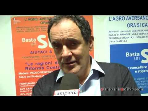 Referendum, Mirabelli a Casapesenna: si per sbloccare il paese