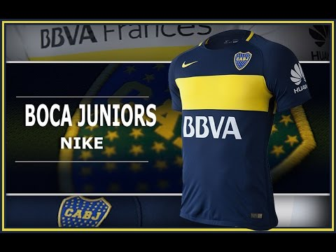 Camiseta Boca Juniors 16 17 Nike Local Visitante - YouTube b91c2bd7dd990