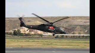 Jandarma pilotlarının Skorsky helikopterler ile gerçekleştirdiği nefes kesen gösteri