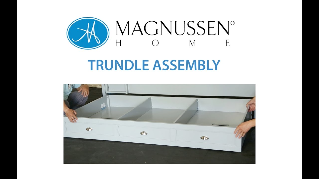 Trundle Assembly Instructions - YouTube