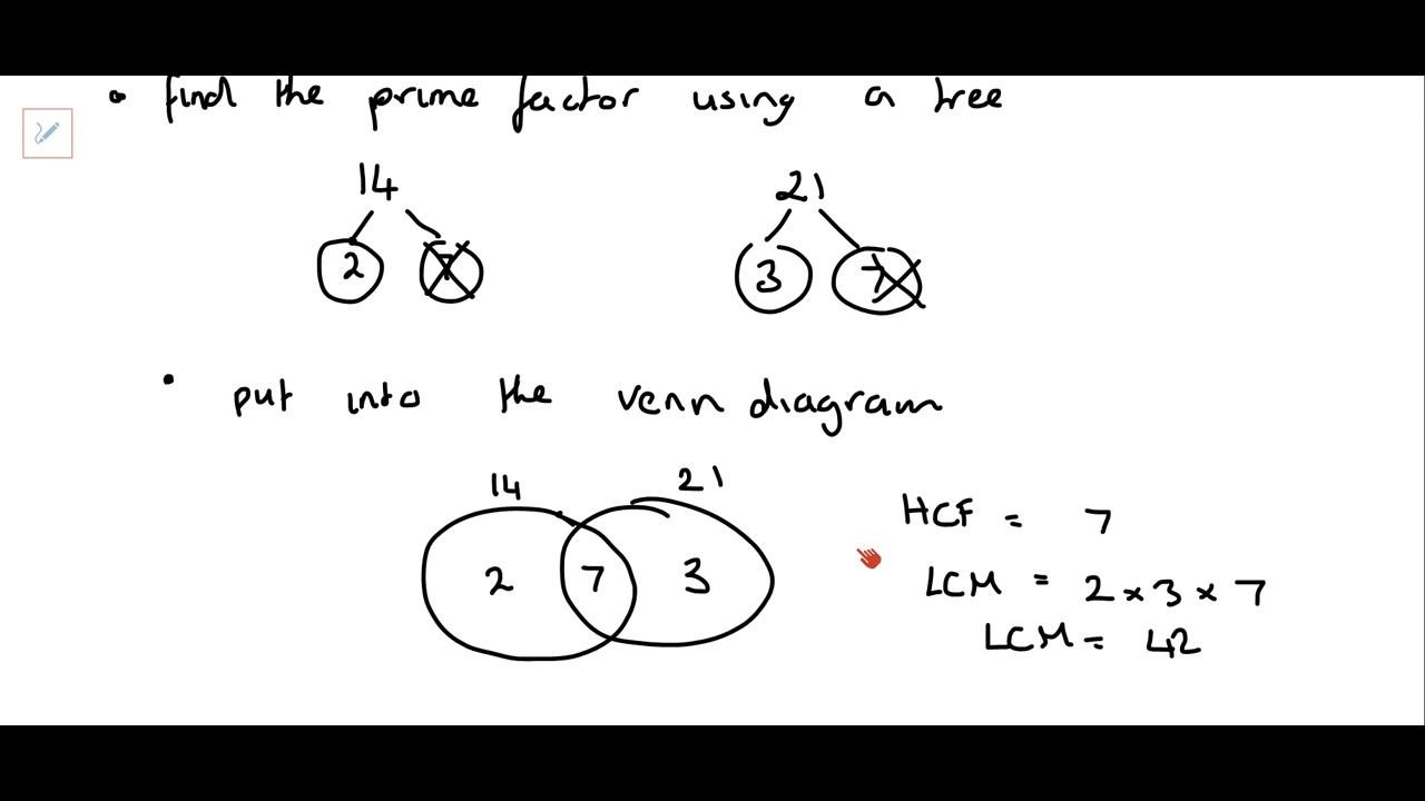 Hcf And Lcm Using Venn Diagrams Car Trailer Wire Diagram Prime Factors Youtube