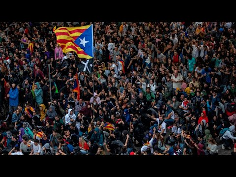 Mass protests break out in Barcelona