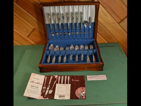 Sweet Briar 1948 Silverplate 50 pc Set Oneida Community